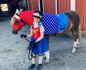 horse costume wonder woman pony