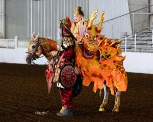 elaborate horse costume