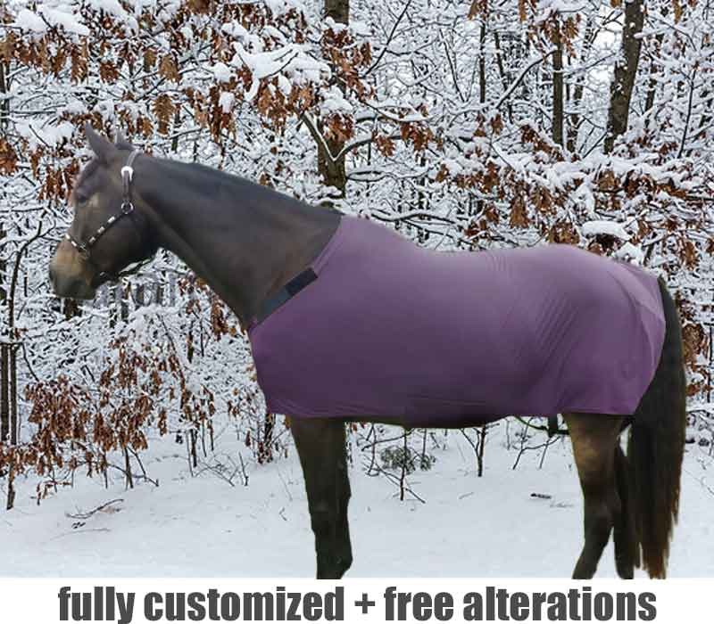 pony fleece body suit