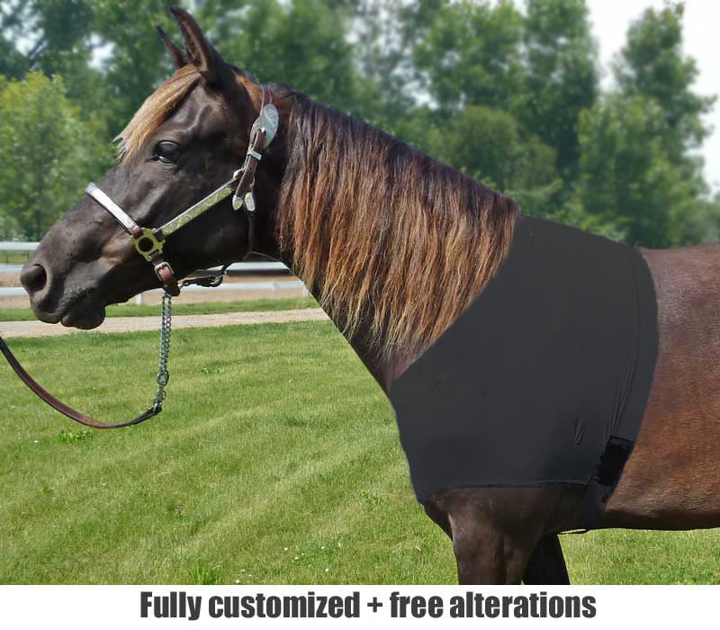 horse lycra shoulder guard heavy duty