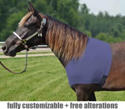 horse shoulder slinky fleece