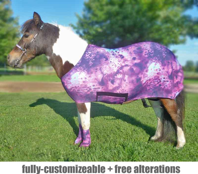 miniature horse lycra body suit
