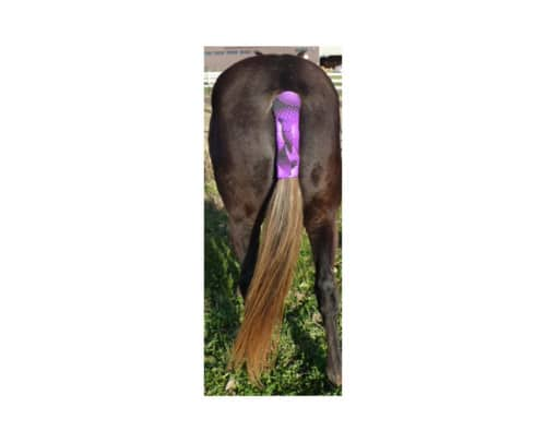 neoprene tail wrap shown in purple