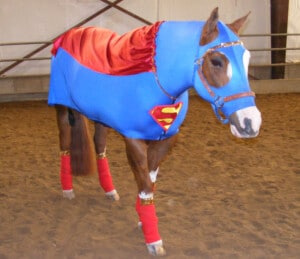 hose in superman costume
