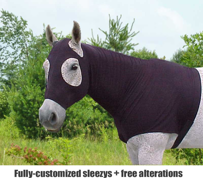 tuff stuff horse sleezy shown in black pull-on with center yoke between the front legs