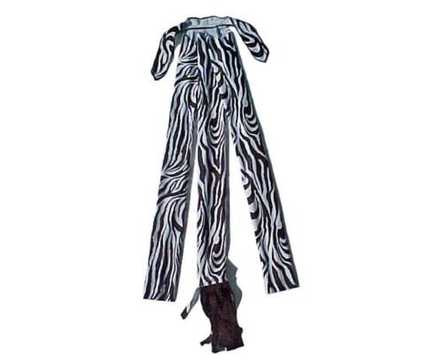 braid in tail bags in zebra print