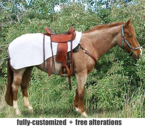 horse quarter sheet shown in white fly mesh