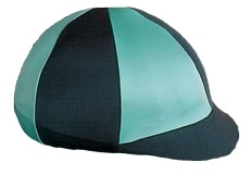 jockey style helmet cover in alternating pattern