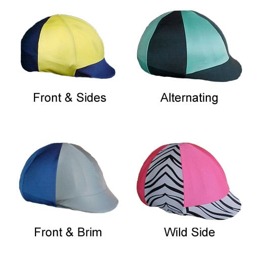 helmet covers in jockey style