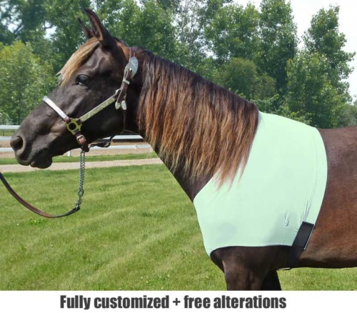 sleazy lycra shoulder guard in mint green