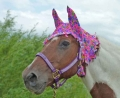 fly bonnet in hot pink print