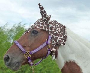 fly bonnet in giraffe print