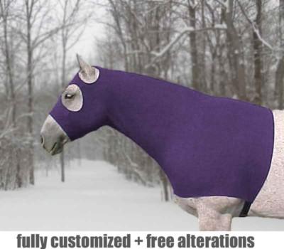 pony lycra hood in fleece