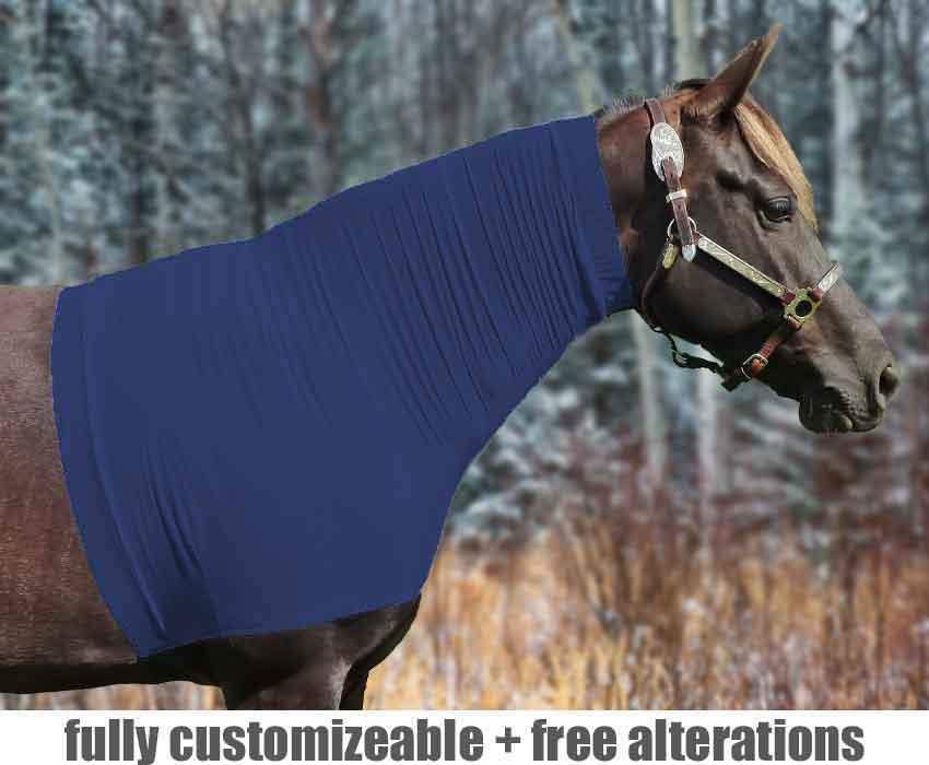 horse hood no face fleece