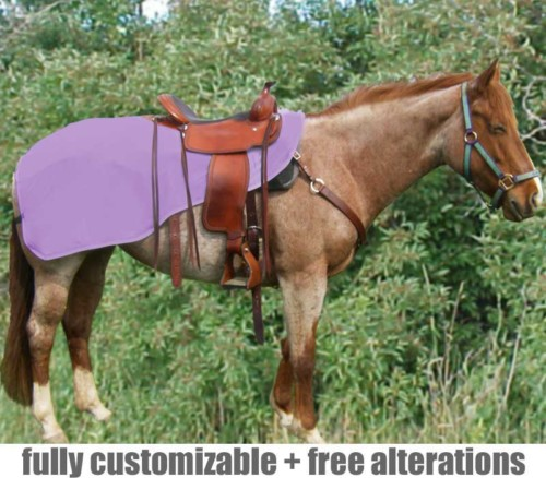 horse quarter sheet shown in lavender