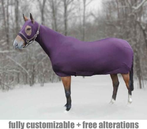 full body sleezy in purple fleece